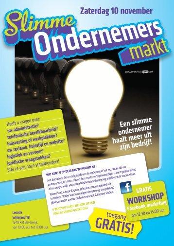 Klik hier voor de Slimme Ondernemersmarkt Flyer