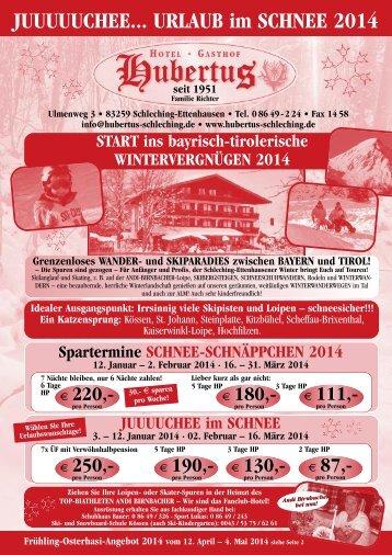Hubertus Programm 4.0-Änderun!!