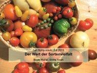 Arche Noah - Forum Ernährung Heute