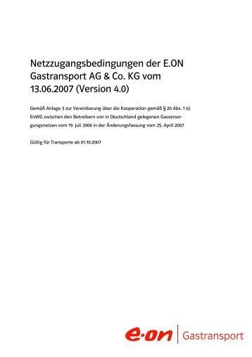 Entwurf Netzzugangsbedingungen der E.ON Gastransport