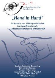 """""""Hand in Hand"""" - bei Polizeifeste.de"""