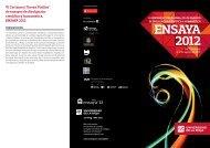 Ensaya'12: VI Certamen 'Teresa Pinillos' - Universidad de La Rioja