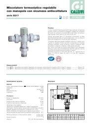 Miscelatore termostatico regolabile con manopola con ... - Caleffi