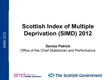 Scottish Index of Multiple Deprivation (SIMD) 2012