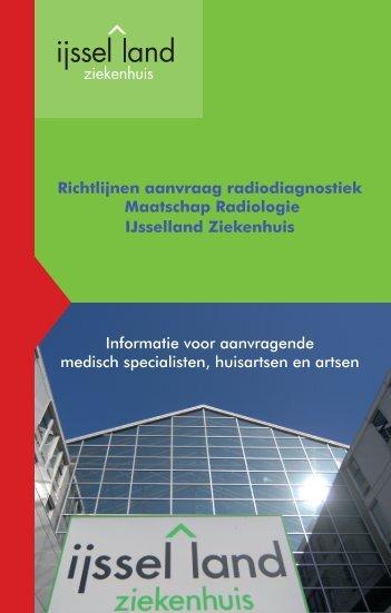 Richtlijnen aanvraag radiodiagnostiek Maatschap Radiologie ...