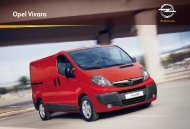 Opel Vivaro. Accessoires.