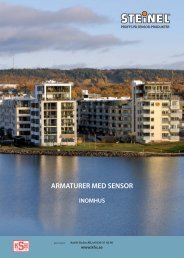 Katalog med Steinels sensorarmatuer 2009 - Karl H Ström