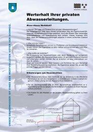 Merkblatt_private Abwasserleitungen - Birrwil