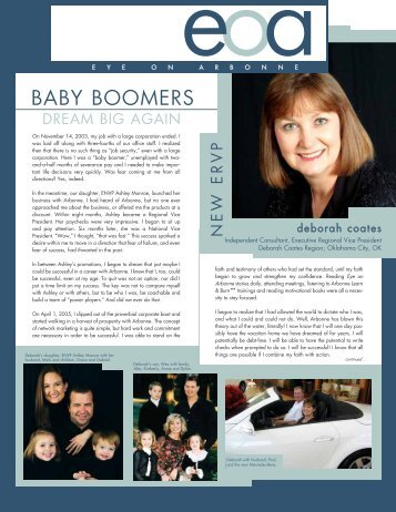 BABY BOOMERS - Arbonne