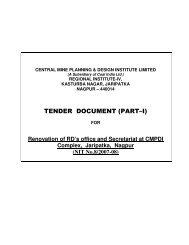 TENDER DOCUMENT (PART–I) - CMPDI