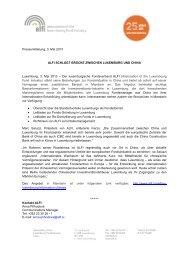 """Pressemitteilung, 3. Mai 2013 ALFI SCHLÃ""""GT BRÃœCKE ZWISCHEN ..."""