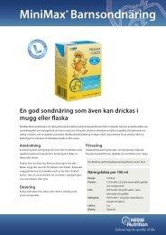 MiniMax® Barnsondnäring - Nestlé Nutrition