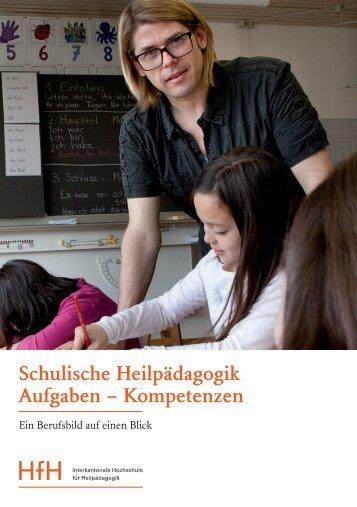 Schulische Heilpädagogik Aufgaben – Kompetenzen - HfH