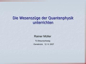 Vortragsfolien - Didaktik der Physik