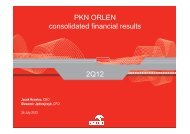 PKN ORLEN consolidated financial results 2Q12