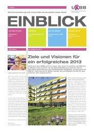 Ziele und Visionen für ein erfolgreiches 2013 - UKBB