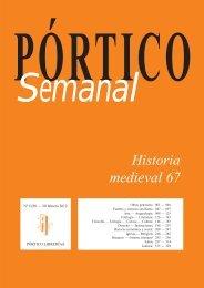 Portico Semanal 1030 Historia medieval 67 - Pórtico librerías