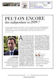 Asset Management Magazine 01/07/09 - Laffitte capital management