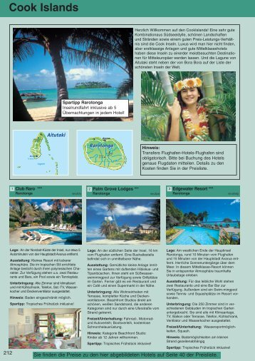 Ausflüge Cook Islands - TourConsult International