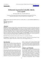 Orthostatic hypotension in healthy elderly - North American Journal ...