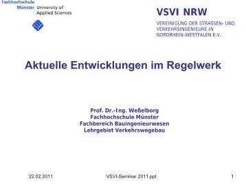Aktuelle Entwicklungen im Regelwerk - VSVI-NRW