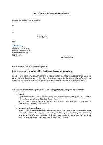 Fantastisch Vorlage Einer Medizinischen Vertraulichkeitsvereinbarung ...