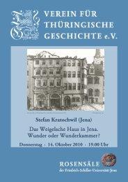 Stefan Kratochwil - Verein für Thüringische Geschichte