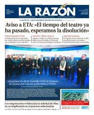 Aviso a ETA: «El tiempo del teatro ya ha pasado, esperamos la disolución»
