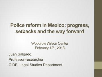 Police reform in Mexico: progress, setbacks and the way forward ...