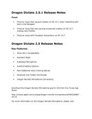 Dragon Dictate 2.5.1 Release Notes - VocaLinks