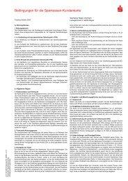 Bedingungen für die Sparkassen-Kundenkarte - Sparkasse Regen ...