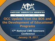 cme-and-occ-update - American Osteopathic Association