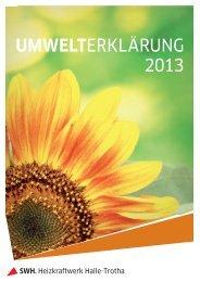 Umwelterklärung 2013 Heizkraftwerk Halle-Trotha - EMAS