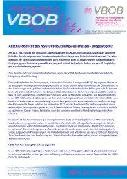 Abschlussbericht des NSU-Untersuchungsausschusses ... - VBOB