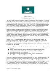 New Faculty Mentor Plan - Staff Development - Ohlone College