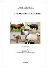Kurban Kesim Rehberi (PDF) - Kartal İlçe Gıda Tarım ve Hayvancılık ...