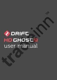 Drift HD Ghost Manual - Scubastore
