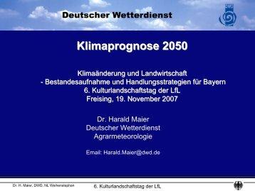 Klimaprognose 2050