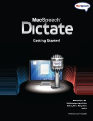 Download the MacSpeech Owners Manual PDF - VocaLinks