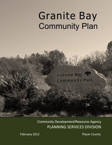 Granite Bay - Placer County Government - State of California
