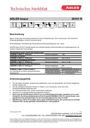 Technisches Merkblatt - ADLER - Lacke