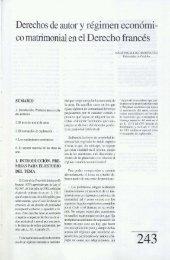 Derechos de autor y régimen económi- co matrimonial en el ... - Helvia