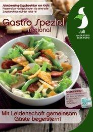 Gastro Spezial Regional - Juli 2013 - Recker Feinkost GmbH