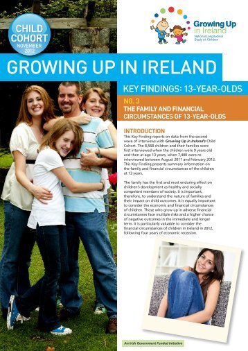 No 3. The Family and Financial Circumstances of 13-year-olds