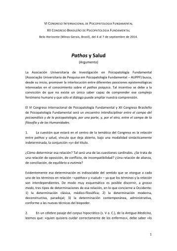 Pathos y Salud - Laboratório de Psicopatologia Fundamental