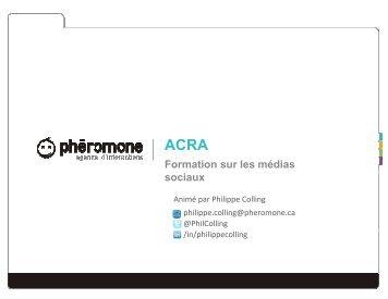 Formation sur les médias sociaux - L'ACRA