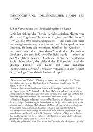 Ideologie und ideologischer Kampf bei Lenin - Wolfgang Fritz Haug
