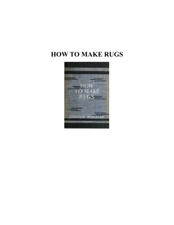 HOW TO MAKE RUGS - Yesterday Image