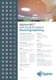 Rigitone BIG™ kant A1 på GK-system Monteringsvejledning - Gyptone