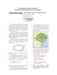 Armazenagem de Dados Geográficos Mediante ... - Unisc